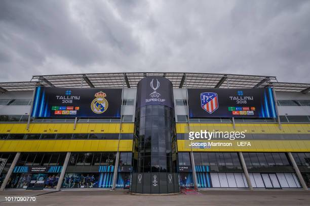General view of the stadium ahead of the UEFA Super Cup between Real Madrid and Atletico Madrid at Lillekula Stadium on August 15 2018 in Tallinn...