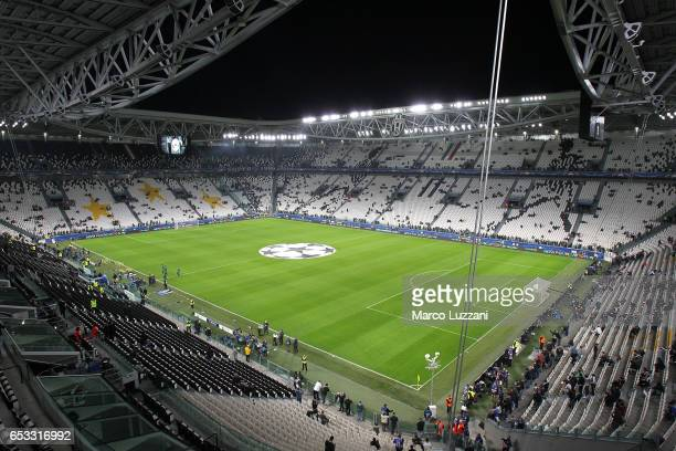 A general view of the stadium ahead the UEFA Champions League Round of 16 second leg match between Juventus and FC Porto at Juventus Stadium on March...