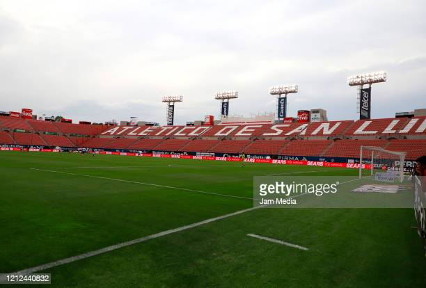 General view of the stadium Alfonso Lastras prior to the 10th round match between Atletico San Luis and Puebla as part of the Torneo Clausura 2020...