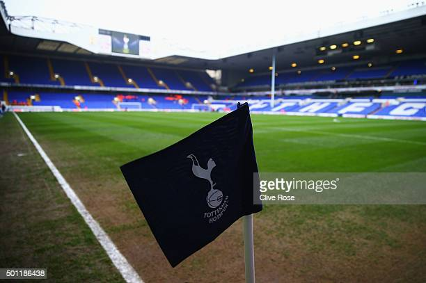 A general view of the stadium and corner flag prior to the Barclays Premier League match between Tottenham Hotspur and Newcastle United at White Hart...
