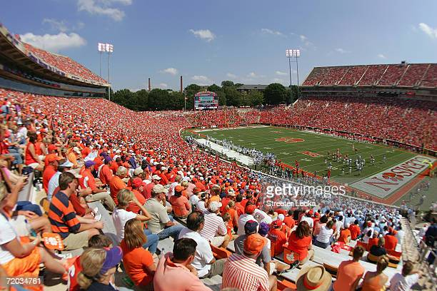 A general view of the stadium and fans as the University of North Carolina Tar Heels take on the Clemson Tigers on September 23 2006 at Memorial...