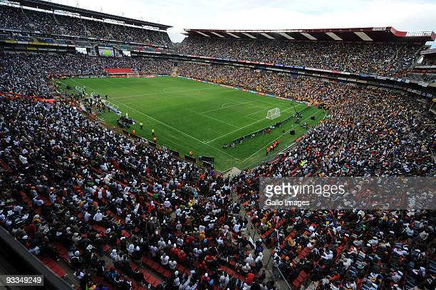 AFRICA MAY 02 A general view of the stadium and fans during the Absa Premiership match between Orlando Pirates and Kaizer Chiefs from Coca Cola Park...