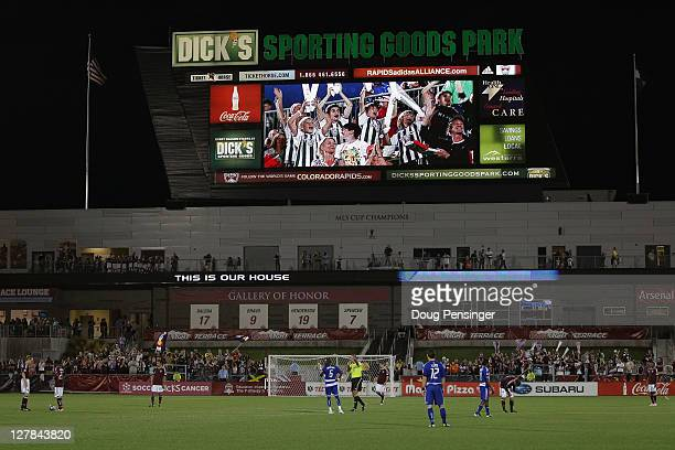 General view of the stadium as FC Dallas face the Colorado Rapids at Dick's Sporting Goods Park on October 1 2011 in Commerce City Colorado The...