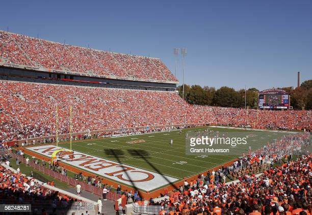 A general view of the stadium as the Clemson Tigers play the Florida State Seminoles in an Atlantic Coast Conference game on November 12 2005 at...