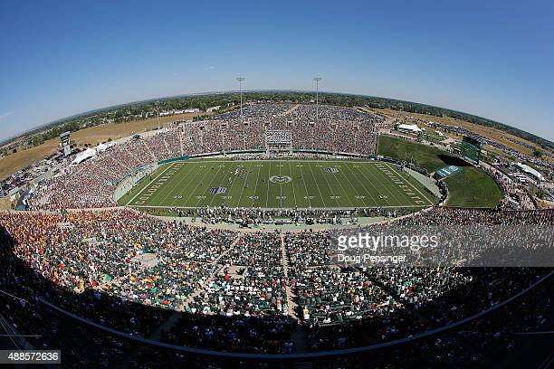 A general view of the stadium as the Minnesota Golden Gophers face the Colorado State Rams at Sonny Lubick Field at Hughes Stadium on September 12...