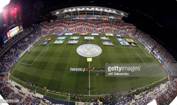 General view of the stadium as the National Anthem is performed during the 2012 AT&T MLS All-Star Game between MLS All-Stars and Chelsea at PPL Park...