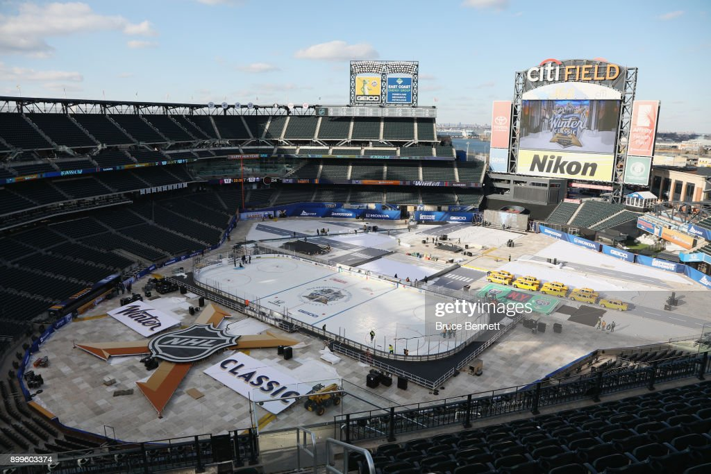 2018 Bridgestone NHL Winter Classic - Rink Build Out : News Photo