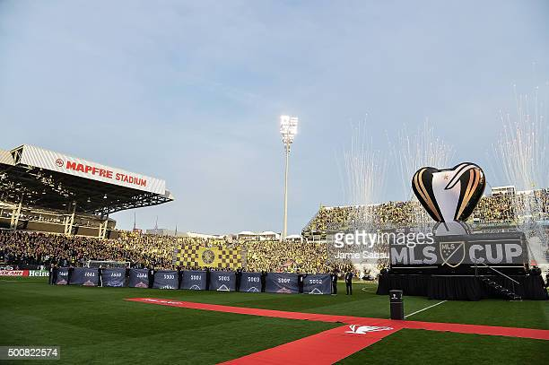 A general view of the stadium before a game between the Columbus Crew SC and the Portland Timbers for the MLS Cup on December 6 2015 at MAPFRE...