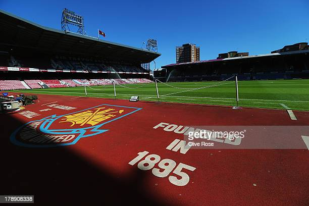General view of the stadium before the Barclays Premier League match between West Ham United and Stoke City at the Bolyen Ground on August 31 2013 in...