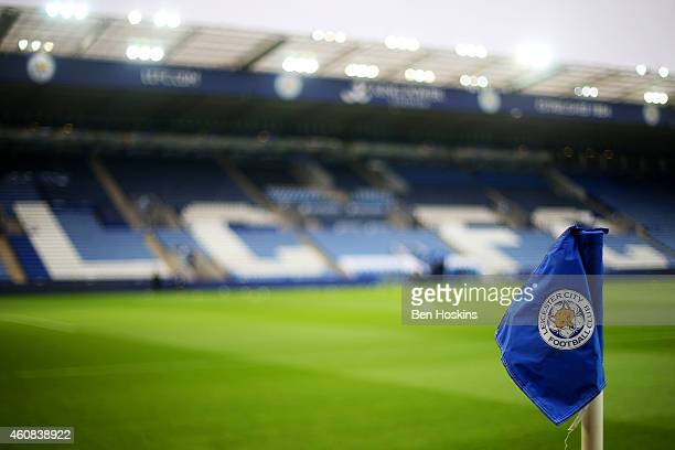 A general view of the stadium before the Barclays Premier League match between Leicester City and Tottenham Hotspur at The King Power Stadium on...