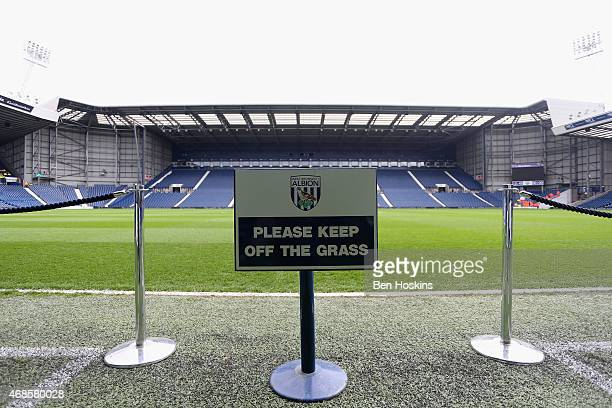 A general view of the stadium before the Barclays Premier league match West Bromwich Albion and Queens Park Rangers at The Hawthorns on April 4 2015...
