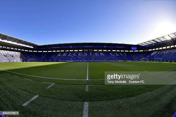 LONDON ENGLAND DECEMBER 26 A general view of the stadium before the Barclays Premier League match between Leicester City and Everton at The King...