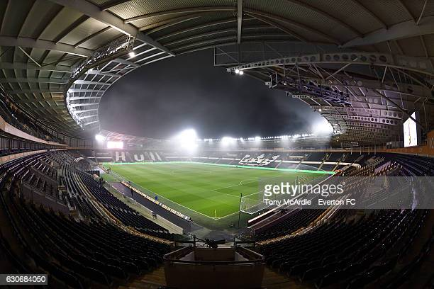 A general view of the stadium before the Barclays Premier League match between Hull City and Everton at the KC Stadium on December 30 2016 in Hull...