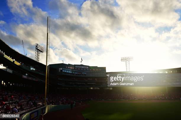 A general view of the stadium before the Boston Red Sox game against the Baltimore Orioles at Fenway Park on April 12 2017 in Boston Massachusetts