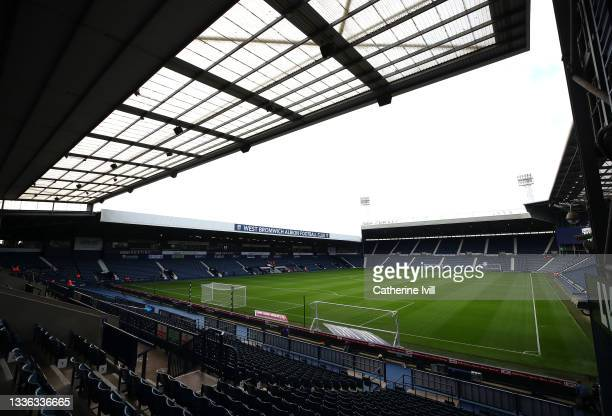 General view of the stadium before the Carabao Cup Second Round match between West Bromwich Albion and Arsenal at The Hawthorns on August 25, 2021 in...