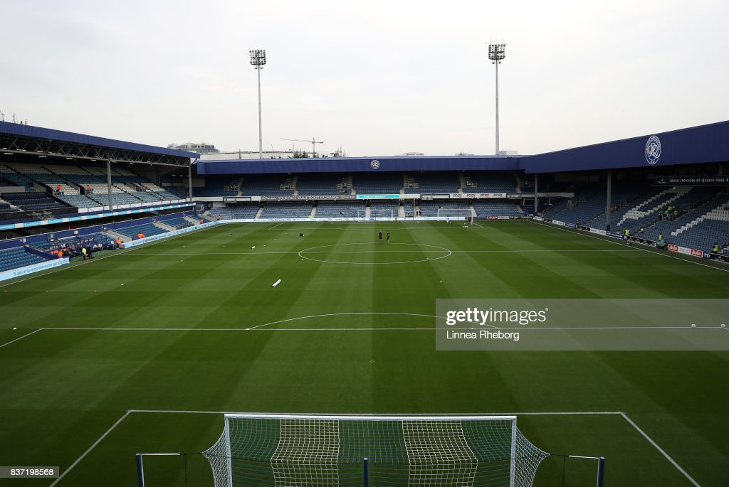 A general view of the stadium before the Carabao Cup Second Round match between Queens Park Rangers and Brentford at Loftus Road on August 22, 2017 in London, England.