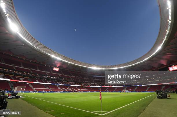 A general view of the stadium before the Copa del Rey Round of 16 match between Atletico Madrid and Girona at Wanda Metropolitano on January 16 2019...