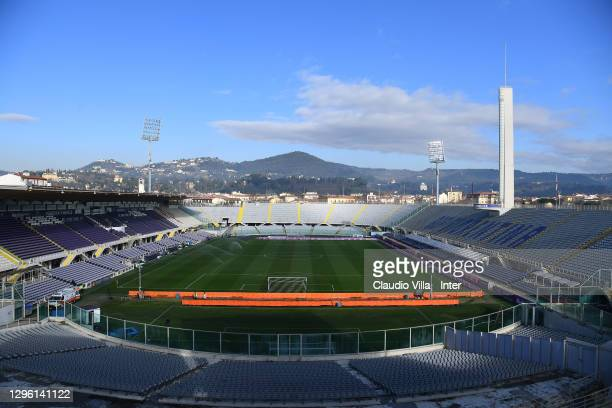 General view of the stadium before the Coppa Italia match between ACF Fiorentina and FC Internazionale at Artemio Franchi on January 13, 2021 in...