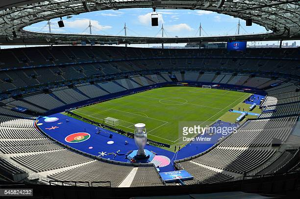 General view of the stadium before the European Championship Final between Portugal and France at Stade de France on July 10 2016 in Paris France
