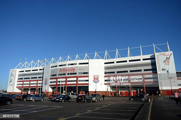 A general view of the stadium before the FA Cup Third Round match between Stoke City and Wrexham at Britannia Stadium on January 4 2015 in Stoke on...