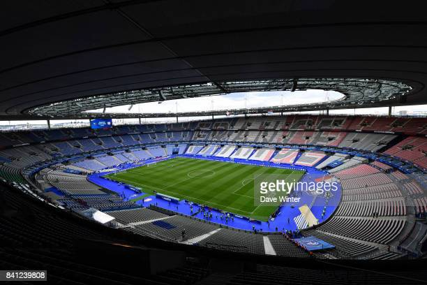 General view of the stadium before the Fifa 2018 World Cup qualifying match between France and Netherlands at Stade de France on August 31 2017 in...