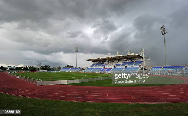A general view of the stadium before the FIFA U17 Women's World Cup Group C match between Spain and Japan at the Ato Boldon Stadium on September 6...