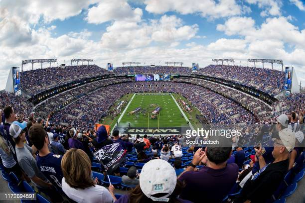 A general view of the stadium before the game between the Baltimore Ravens and the Cleveland Browns at MT Bank Stadium on September 29 2019 in...
