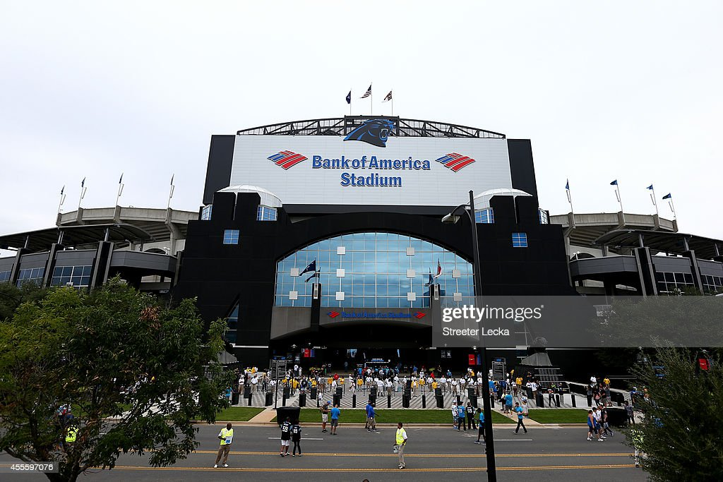 A general view of the stadium before the game between the Detroit Lions and the Carolina Panthers at Bank of America Stadium on September 14, 2014 in Charlotte, North Carolina.