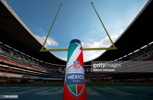 A general view of the stadium before the game between the Kansas City Chiefs and the Los Angeles Chargers at Estadio Azteca on November 18 2019 in...
