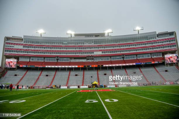 A general view of the stadium before the game between the Nebraska Cornhuskers and the Iowa Hawkeyes at Memorial Stadium on November 29 2019 in...