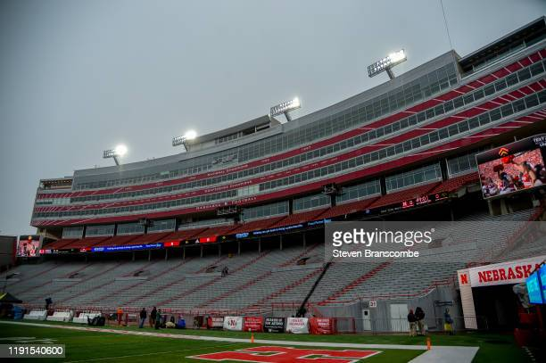 General view of the stadium before the game between the Nebraska Cornhuskers and the Iowa Hawkeyes at Memorial Stadium on November 29, 2019 in...