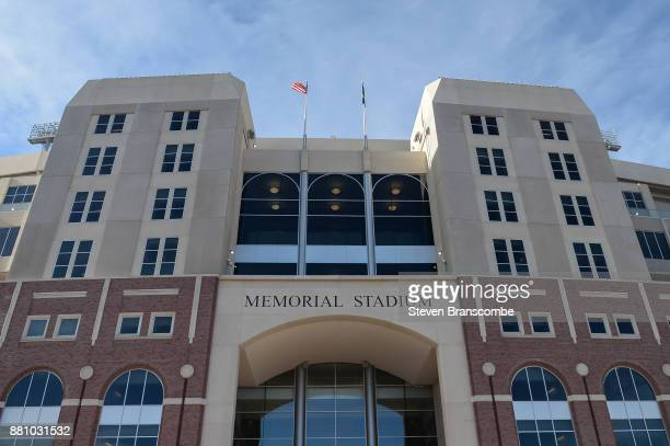 General view of the stadium before the game between the Nebraska Cornhuskers and the Iowa Hawkeyes at Memorial Stadium on November 24 2017 in Lincoln...