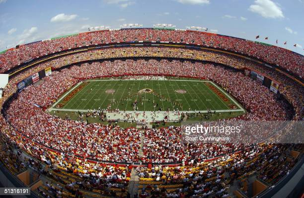 General view of the stadium before the game between the Tampa Bay Buccaneers and the Washington Redskins on September 12 2004 at FedEx Field in...