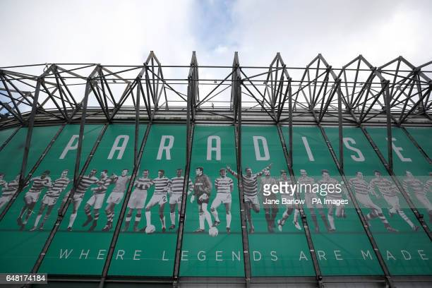 A general view of the stadium before the Ladbrokes Scottish Premiership match at Celtic Park Glasgow