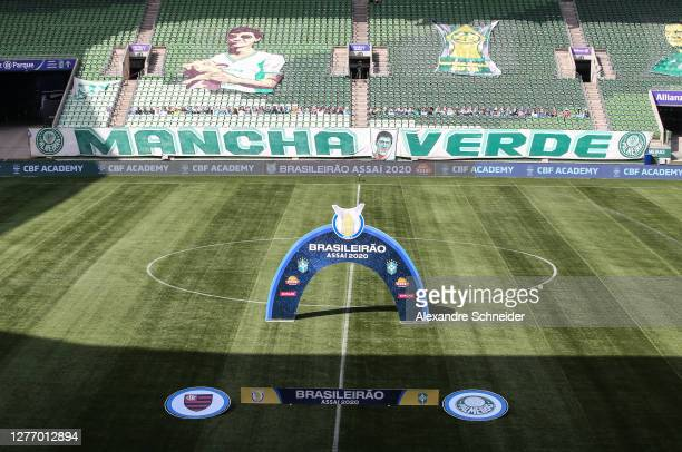 General view of the stadium before the match between Palmeiras and Flamengo as part of Brasileirao Series A at Allianz Parque on September 27, 2020...