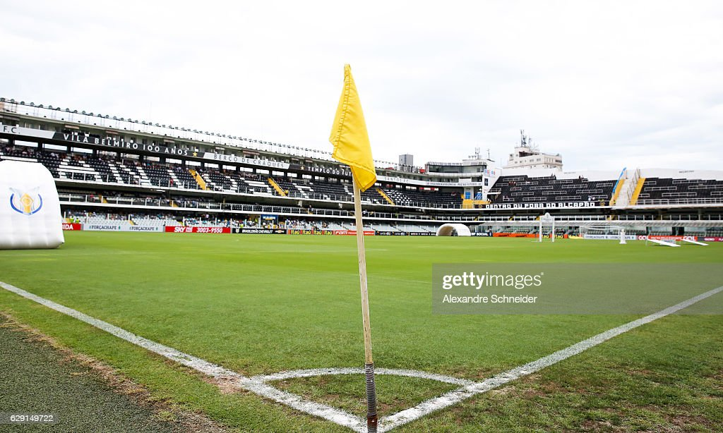General view of the stadium before the match between Santos and America MG for the Brazilian Series A 2016 at Vila Belmiro stadium on December 11, 2016 in Sao Paulo, Brazil.