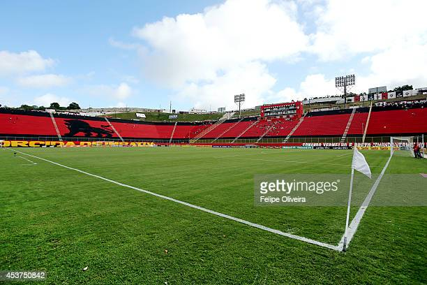 General view of the stadium before the match between Vitoria and Chapecoense as part of Brasileirao Series A 2014 at Estadio Manoel Barradas on...