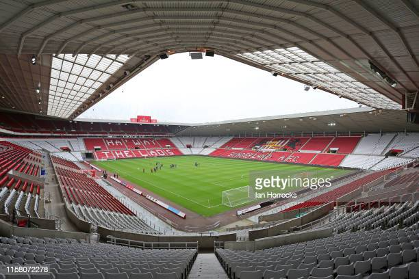 General view of the stadium before the pre-season friendly game between Sunderland AFC and SC Heerenveen at Stadium of Light on July 27, 2019 in...