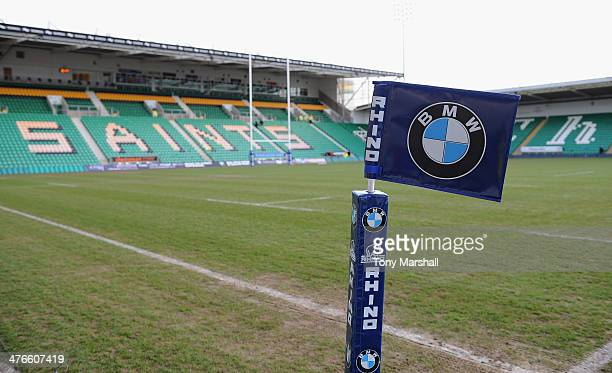 A general view of the stadium before the RBS U20 Six Nations match at Franklin's Gardens on February 22 2014 in Northampton England
