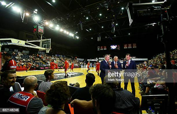 General view of the stadium before the round 16 NBL match between the Illawarra Hawks and the New Zealand Breakers at the Wollongong Entertainment...