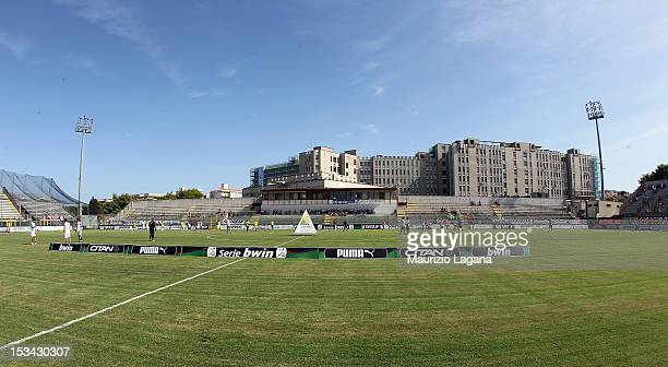 General view of the stadium before the Serie B match between FC Crotone and AS Livorno at Stadio Comunale Ezio Scida on September 29, 2012 in...