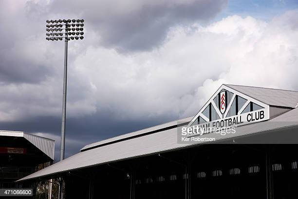 General view of the stadium before the Sky Bet Championship match between Fulham and Middlesbrough at Craven Cottage on April 25 2015 in London...