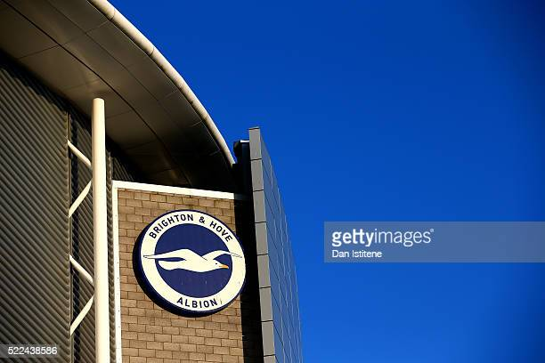 A general view of the stadium before the Sky Bet Championship match between Brighton Hove Albion and Queens Park Rangers at Amex Stadium on April 19...