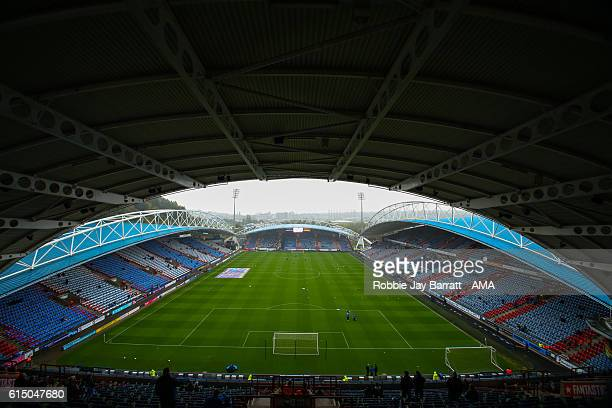 General view of the stadium before the Sky Bet Championship match between Huddersfield Town and Sheffield Wednesday at John Smith's Stadium on...