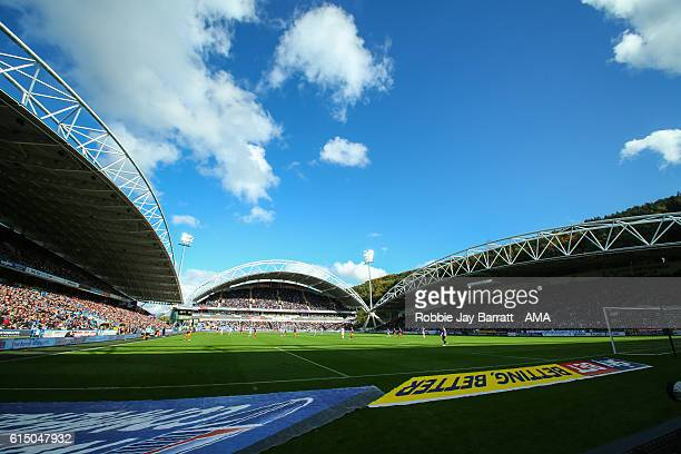 A general view of the stadium before the Sky Bet Championship match between Huddersfield Town and Sheffield Wednesday at John Smith's Stadium on...