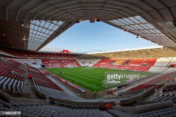 General view of the stadium before the Sky Bet League 1 match between Sunderland and Rotherham United at the Stadium Of Light, Sunderland on Tuesday...