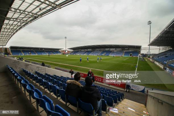 General view of the stadium before the Sky Bet League One match between Chesterfield and Shrewsbury Town at Proact Stadium on March 11 2017 in...