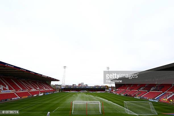 A general view of the stadium before the Sky Bet League One match between Swindon Town and Bolton Wanderers at County Ground on October 8 2016 in...