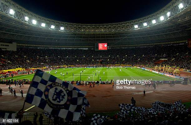 General view of the stadium before the start of the UEFA Champions League Final between Manchester United and Chelsea held at the Luzhniki Stadium...