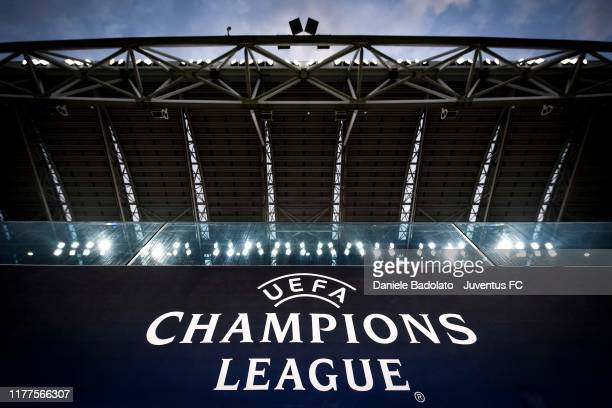 General view of the stadium before the UEFA Champions League group D match between Juventus and Lokomotiv Moskva at Juventus Arena on October 22,...